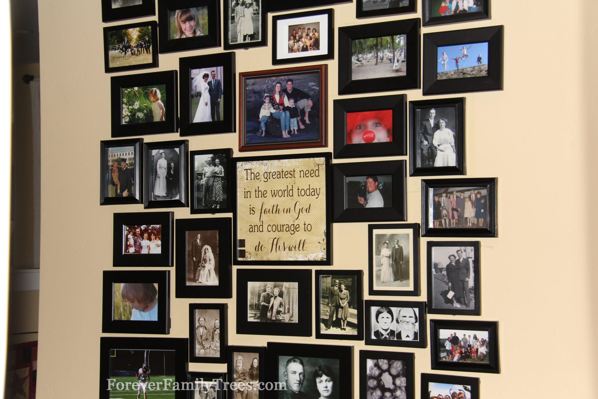 Family Magnetic Photo Wall - Forever Family Trees